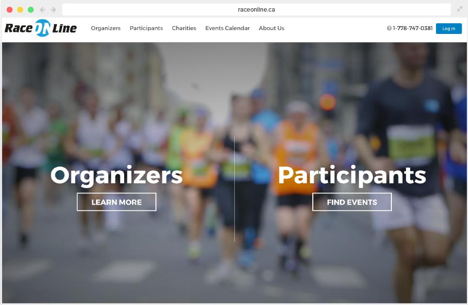 Race Online Site Design