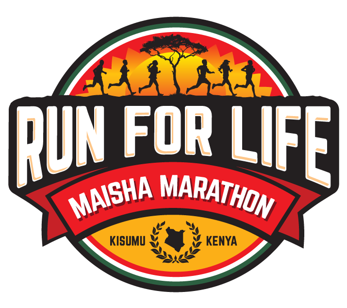 Run for Life Marathon Logo Design