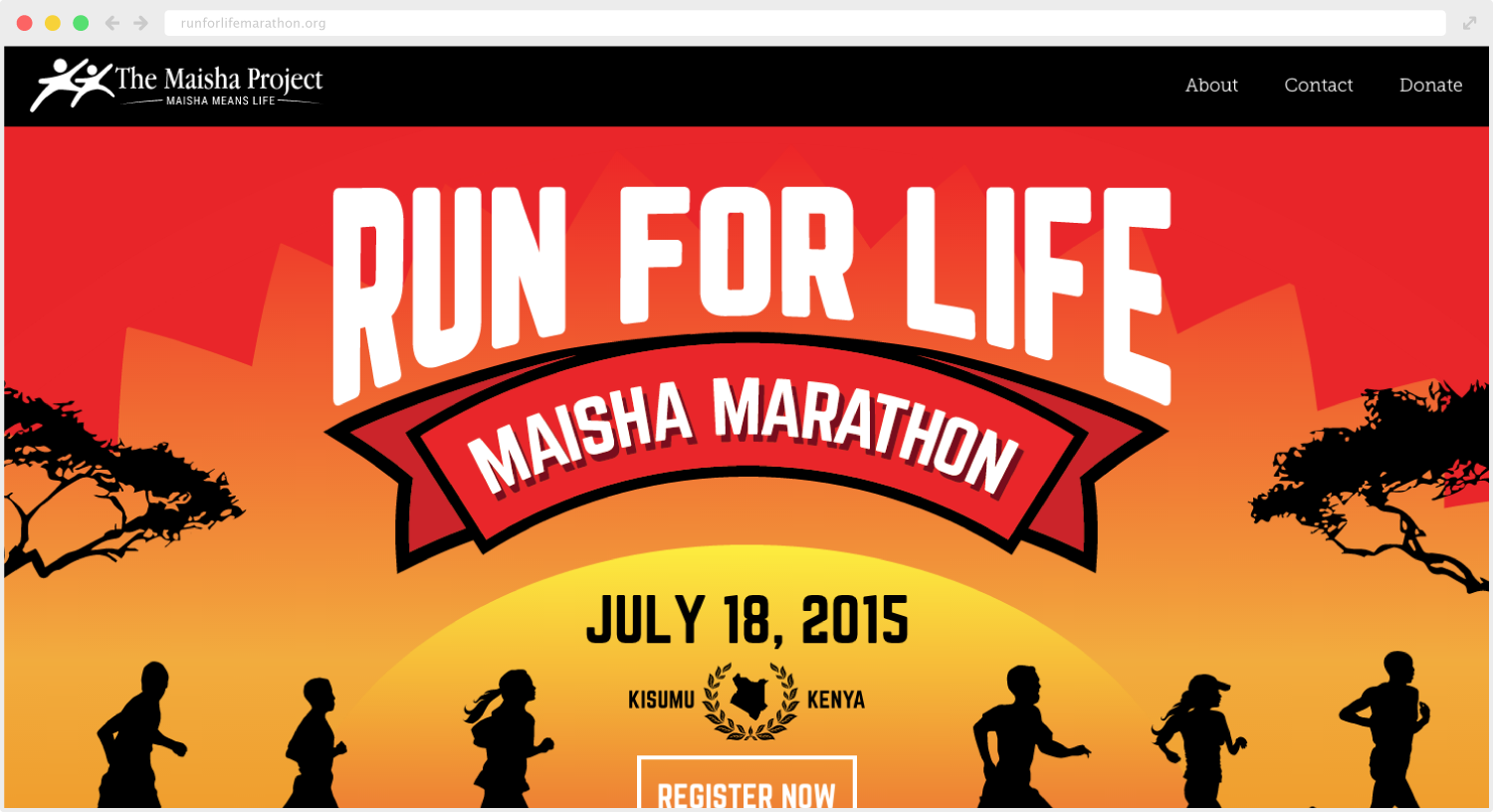 Run for Life Marathon Site Design